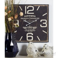 August Grove Oversized Philo Wood Wall Clock AGGR1293