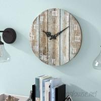 Beachcrest Home 16 Round Wood Wall Clock BCHH4152
