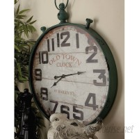 Beachcrest Home Oversized 32 Round Metal Wall Clock BCHH2409