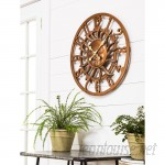 "Bloomsbury Market Pennside Oversized Sunface Outdoor 24"" Wall Clock BLMT6380"