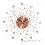 "Cole Grey Metal Acrylic 20"" Wall Clock CLRB2039"
