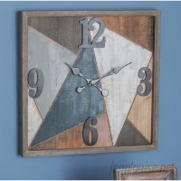 Cole Grey Wood/Metal Wall Clock CLRB3937