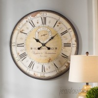 Darby Home Co Oversized 31.5 Round Metal Wall Clock OAWY2436