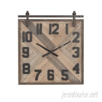 Foundry Select Allport Modern Square Analog Wall Clock FNDS1434