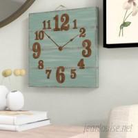 Gracie Oaks Cassandrea Square Wood Pallet Wall Clock GRKS7156