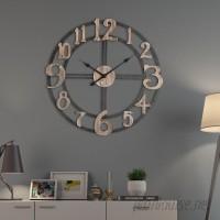 Gracie Oaks Oversized Berrin Round 28 Wall Clock VLKU1014
