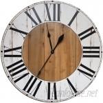 Gracie Oaks Oversized Bryan Farmhouse Wall Clock GRCS1458