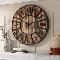 Gracie Oaks Oversized Hampson 36 Wall Clock GRCS6600