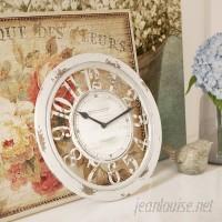 Lark Manor Round Antique Contour 10 Wall Clock LRKM1646