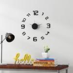 Latitude Run Skelton 3D Frameless Wall Clock in Black LDER6100