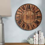 "Laurel Foundry Modern Farmhouse Oversized Meriwether 24"" Metal Wall Clock LRFY7150"