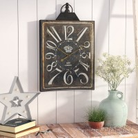 Laurel Foundry Modern Farmhouse Square Arabic/Standard Wall Clock LRFY5420