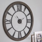 "One Allium Way Oversized Paray 60"" Wall Clock OAWY8567"