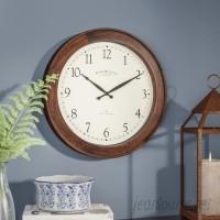 Three Posts Lebouef 16 Round Wooden Wall Clock TRPT3373