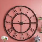 """Three Posts Strathern Oversized 45"""" Roman Rivet Wall Clock TRPT4487"""