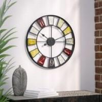 Trent Austin Design Millary Oversized 24 Kaleidoscope Wall Clock TADN1988