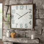 Union Rustic Oversized Louie Square Wood Wall Clock UNRS6631