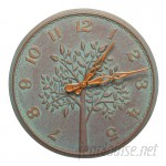 """Whitehall Products 16"""" Tree of Life Indoor/Outdoor Wall Clock WHP2878"""