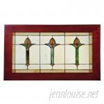 Astoria Grand Arts Crafts Bud Trio Stained Glass Window ARGD2726