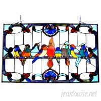 Astoria Grand Beley Gathering Birds Window Panel ARGD2284