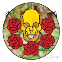 Design Toscano Beauty and Decay Gothic Skull Stained Glass Window TXG6698