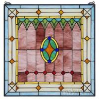 Design Toscano Craftsman Stained Glass Window Panel TXG9358