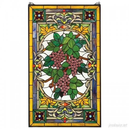 Design Toscano Fruit of the Vine Stained Glass Window TXG5361