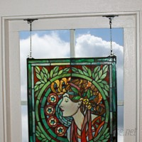 Design Toscano Westbourne Place Stained Glass Window Panel TXG9362