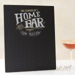 Cathys Concepts Personalized Bar Menu Wall Mounted Chalkboard YCT3748