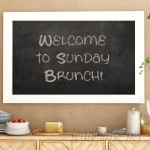 Union Rustic Contemporary Framed Magnetic Wall Mounted Chalkboard UNRS4109