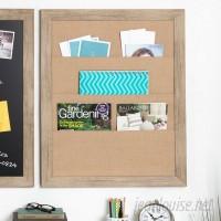 Union Rustic Framed Burlap Pocket Wall Mounted Bulletin Board UNRS4110