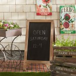 WaldImports Display Sign Free Standing Chalkboard WLDI1302