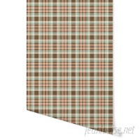 August Grove Higgin Pumpkin Spice Latte Plaid 4' L x 24 W Peel and Stick Wallpaper Panel NDN14904