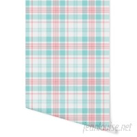 August Grove Hinton Latte Plaid 4' L x 24 W Peel and Stick Wallpaper Panel NDN14902