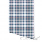 "August Grove Hitchens Plaid 4' L x 24"" W Peel and Stick Wallpaper Panel NDN14921"