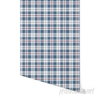 """August Grove Hitchens Plaid 4' L x 24"""" W Peel and Stick Wallpaper Panel NDN14921"""