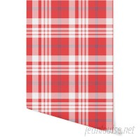 """August Grove Hitchens Plaid 4' L x 24"""" W Peel and Stick Wallpaper Panel NDN14922"""