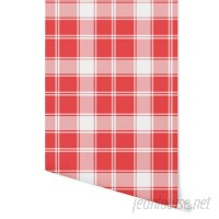 August Grove Hitchens Plaid 4' L x 24 W Peel and Stick Wallpaper Panel NDN14923
