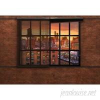 "Brewster Home Fashions Brooklyn Brick 8'4"" x 144"" 8 Piece Wallpaper Panel Set BZH9611"