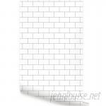 Ebern Designs Maxey 48'' L x 24'' W Brick Peel and Stick Wallpaper Tile EBDG6341