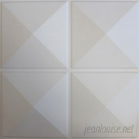 "eModern Decor Diamond 19.6' x 19.6"" Geometric 10 Piece Panels Wallpaper EMDE1027"