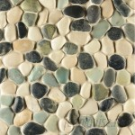 GSMT Pebble Rock Pebble Stone Unglazed Mosaic Tile in Awan GSMT2184
