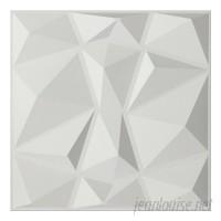 Orren Ellis Schurda Diamond 19.7 L x 19.7 W 3D Embossed Wallpaper Panel DTAR1098