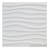 Orren Ellis Yacoubou Plastic Wave 19.7 L x 19.7 W 3D Embossed Wallpaper Panel DTAR1118