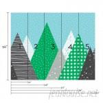 SimpleShapes Kids Mountains 5 Piece Wallpaper Tile SSHA1151
