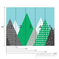 SimpleShapes Kids Mountains 5 Piece Wallpaper Tile SSHA1151