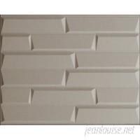 threeDwall 31.4 x 24.6 Paintable Brick 3D Embossed Panel Wallpaper TDWL1011