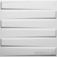 threeDwall Brick Paintable 19.6' x 19.6 Geometric 3D Embossed Panel Wallpaper TDWL1002