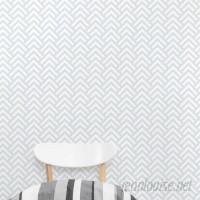 """Wallums Wall Decor Line Scales 4' L x 24"""" W Geometric Peel and Stick Wallpaper Roll WWDR1065"""
