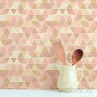 Wallums Wall Decor Triangles 48 L x 24 W Peel and Stick Wallpaper Tile WWDR1071